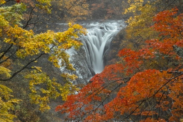 恵庭‐白扇の滝