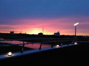 刈谷総合公園-さくら橋の夕景